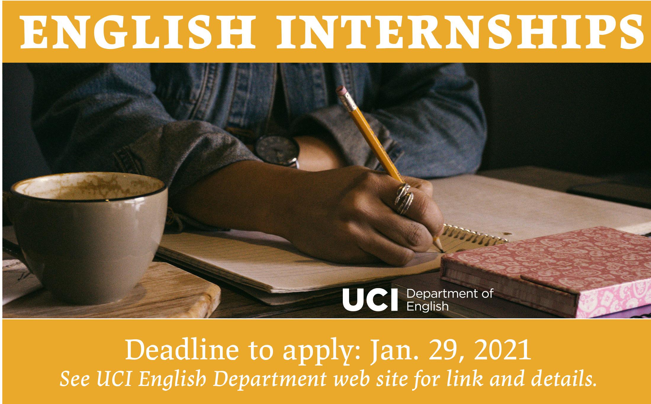 English Internships Deadline Feb. 12 2021