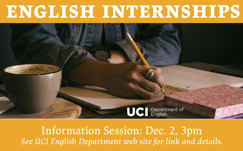 English Internships Info Session Dec. 3 3pm