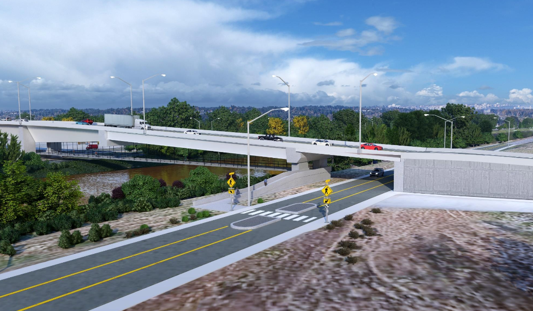 illustration of Canyon Road Freight Corridor project