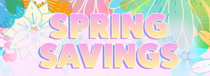 Spring Savings Banner