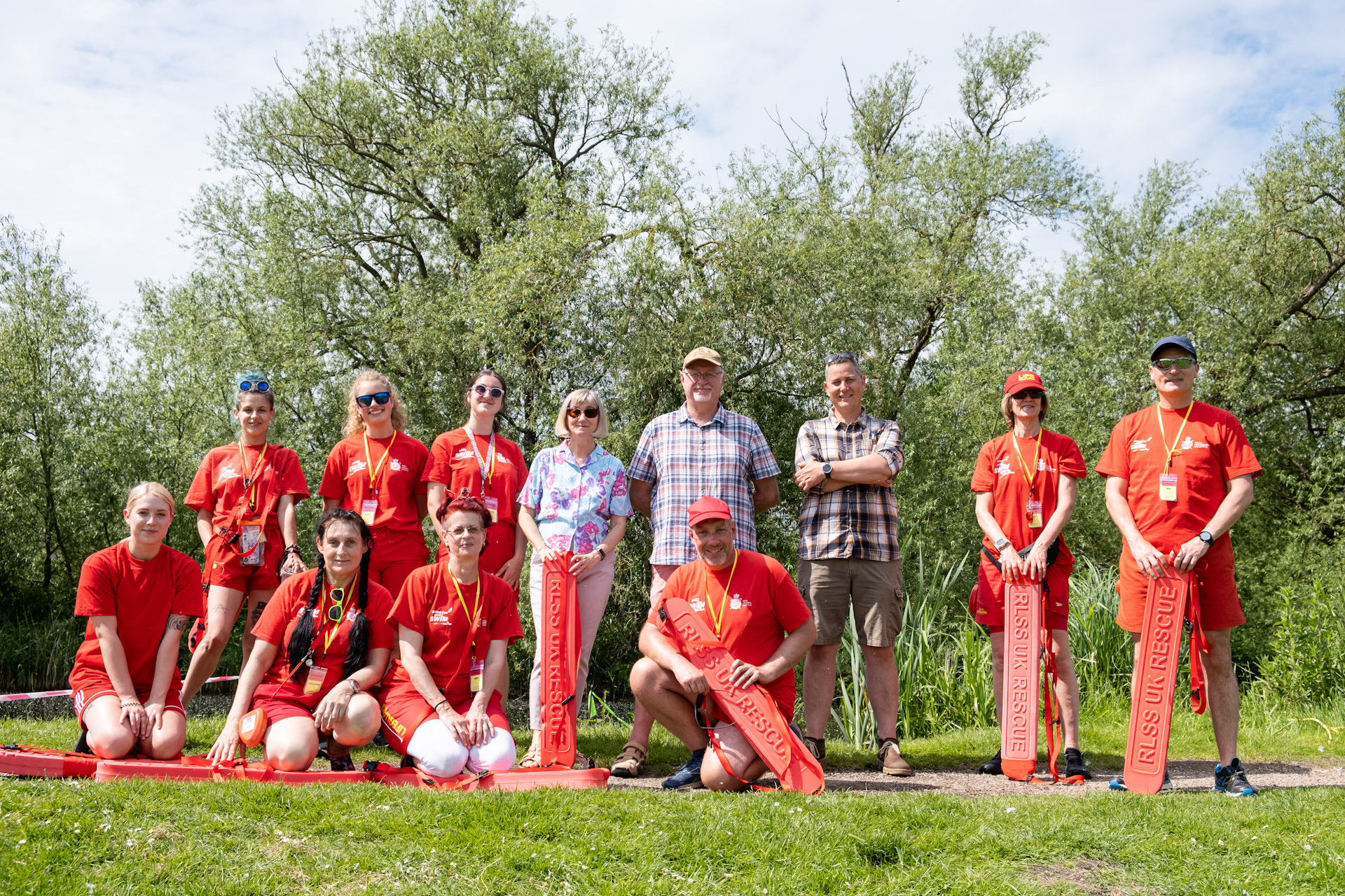 Lifeguards with Mayor of Mildenhall