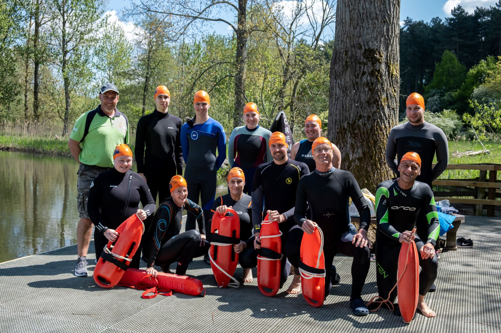 Image showing 11 participants who took part in the lifeguard training