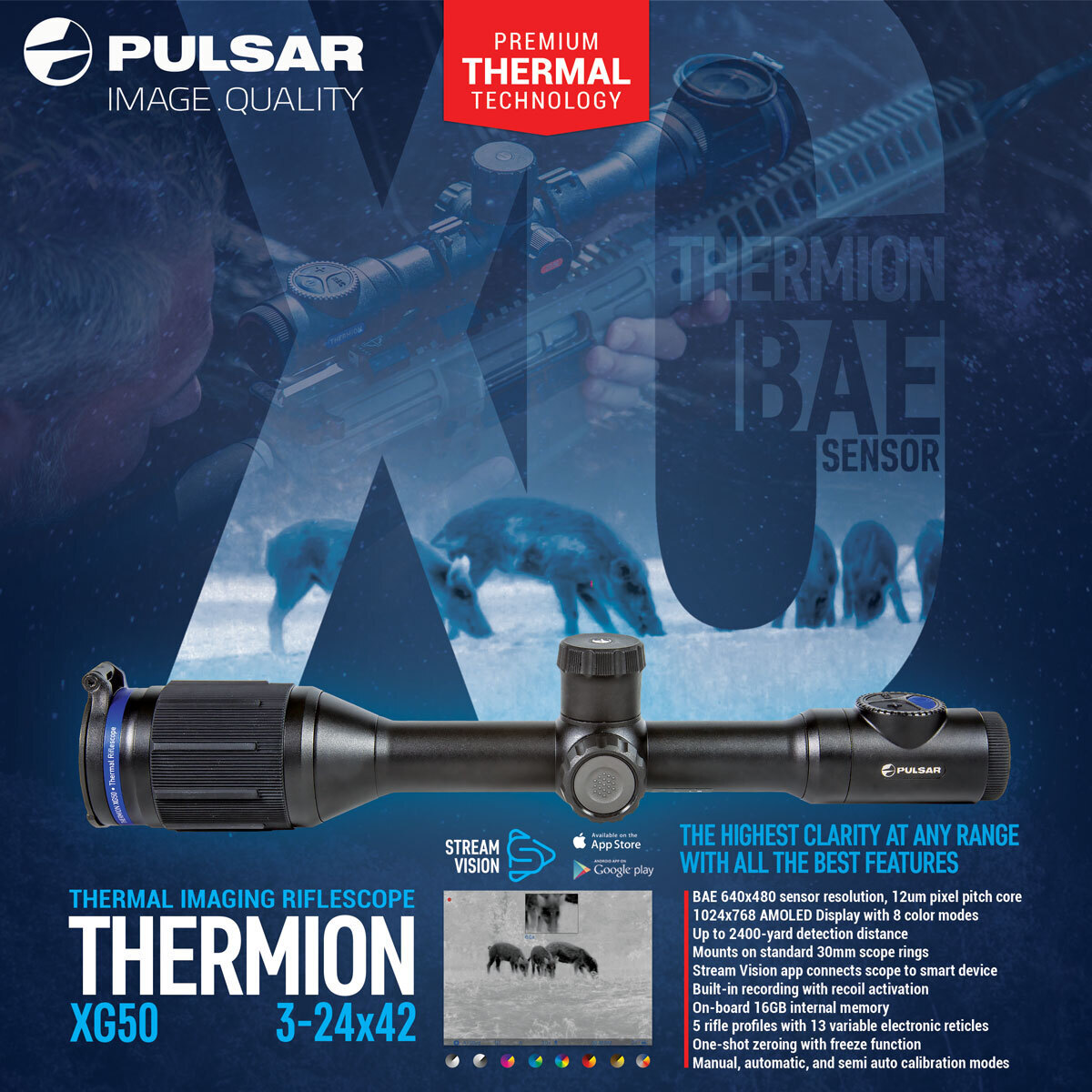 Thermion XG50 Thermal Imaging Riflescope