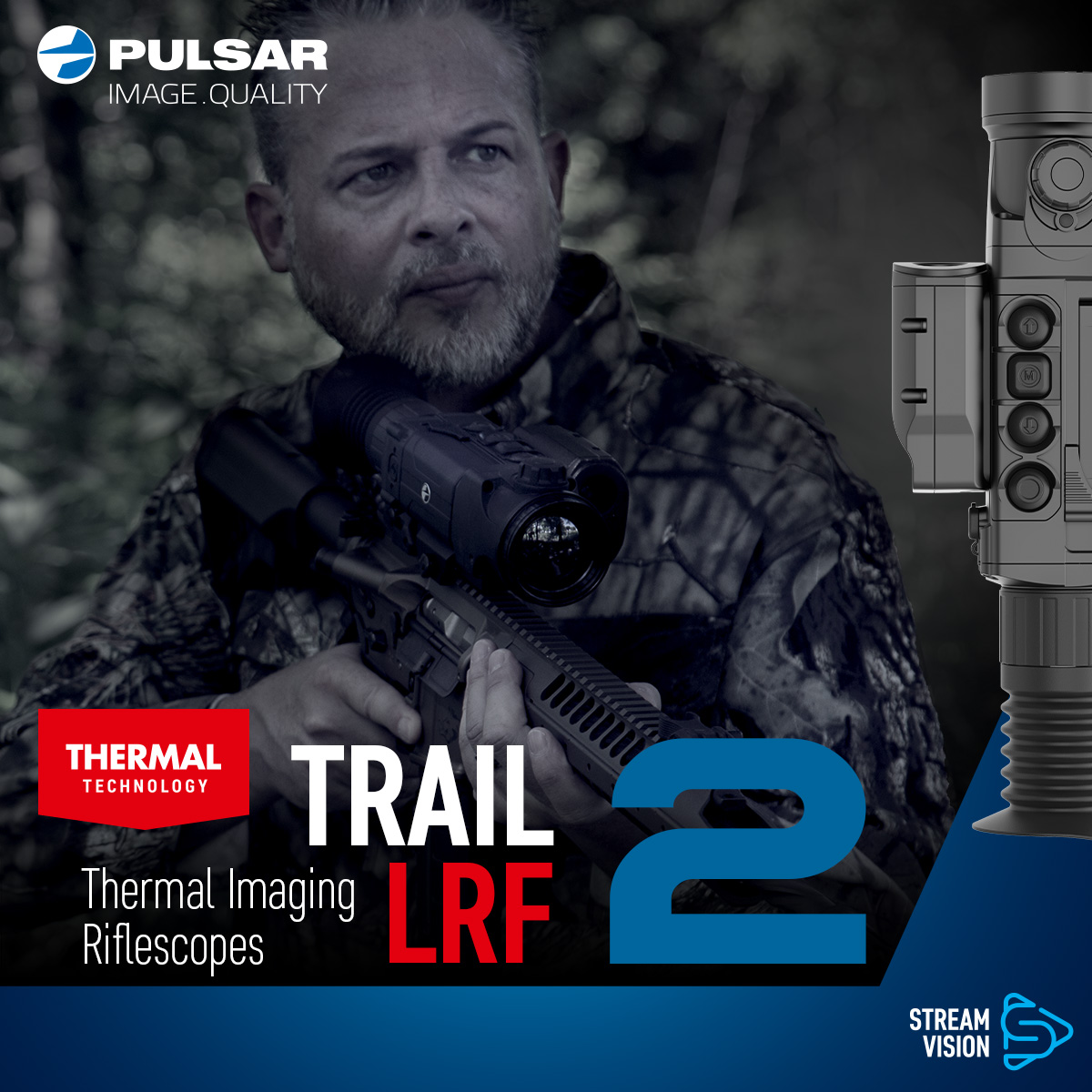 Trail 2 LRF Thermal Imaging Riflescopes