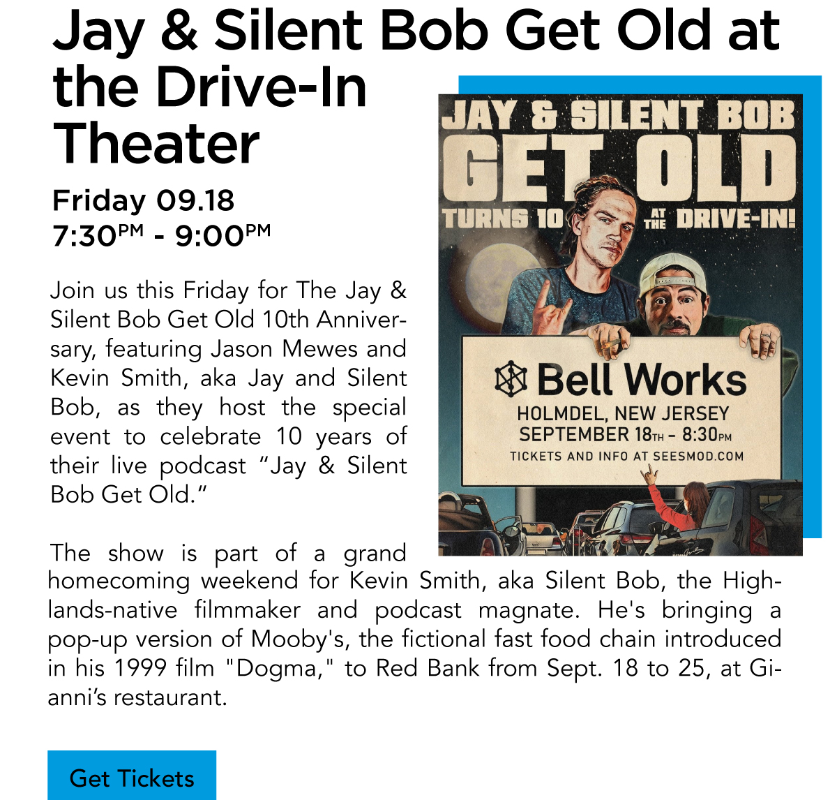 Jay & Silent Bob Get Old at the Drive-In Theater