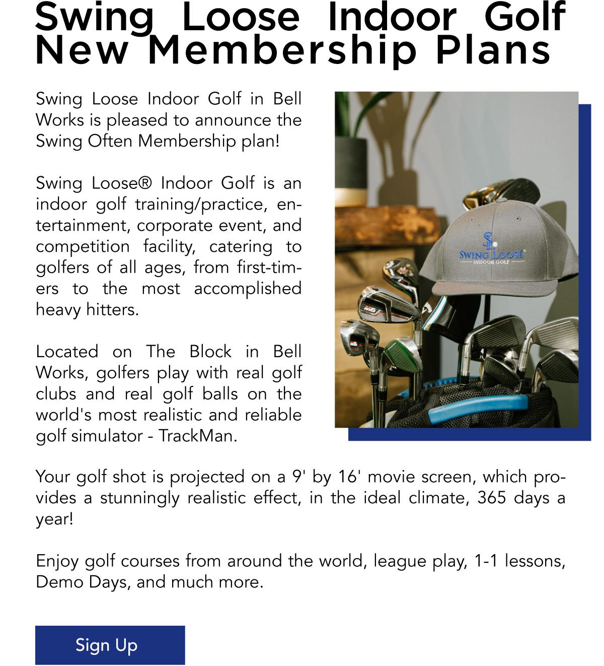 Swing Loose Indoor Gold New Membership Plans