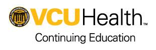 VCU Health Continuing Education logo