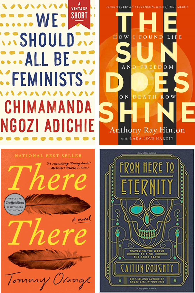 Book covers for 2020-2021 Beyond the Book selections
