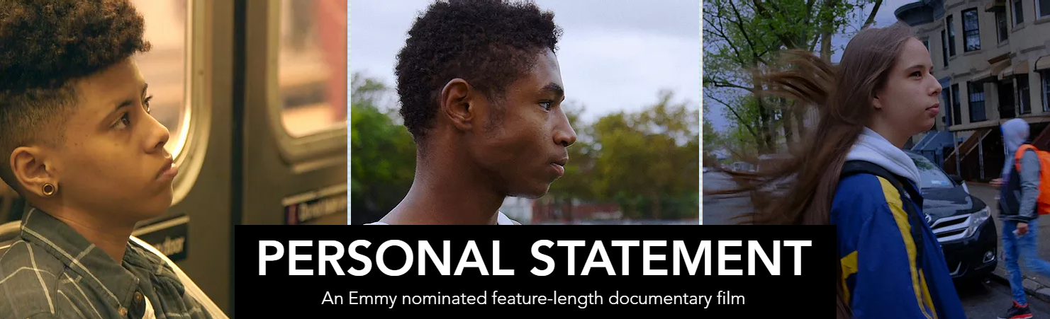 Promotional art for Personal Statement, an Emmy-nominated feature-length documentary film
