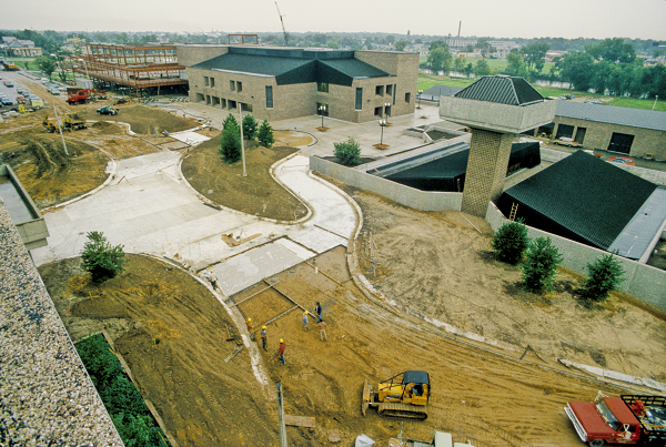 IMG #020 - View from A&S rooftop of the construction of the Mall and Gannon parking ramp