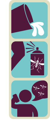 Take these three steps to fight the bite: eliminate standing water, prevent mosquito bites and report mosquito activity.