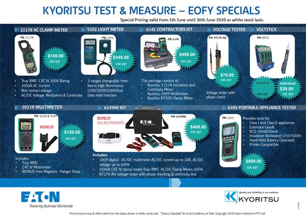 Kyoritsu Test & Measure specials