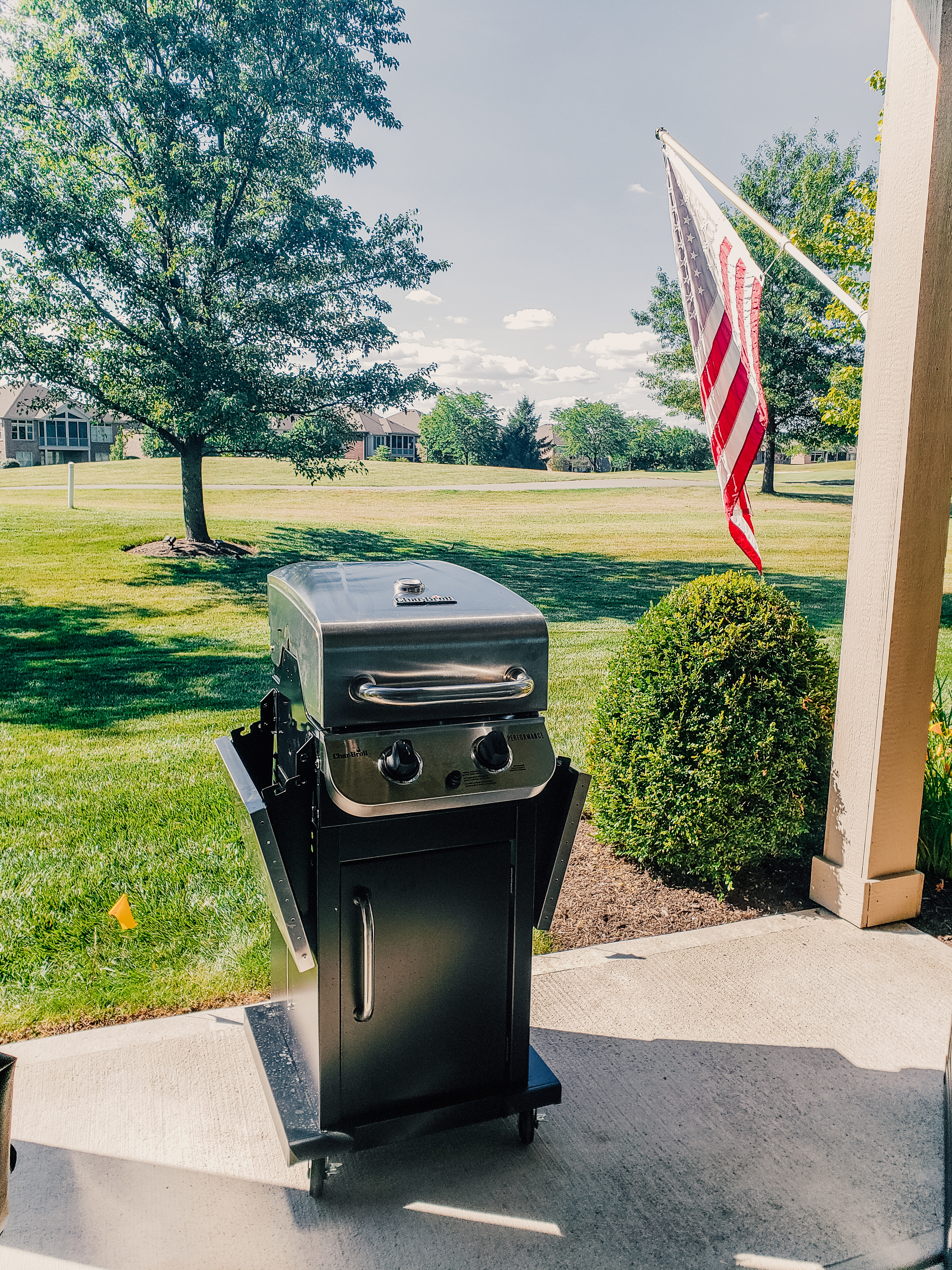 4th of July: grilling and our flag