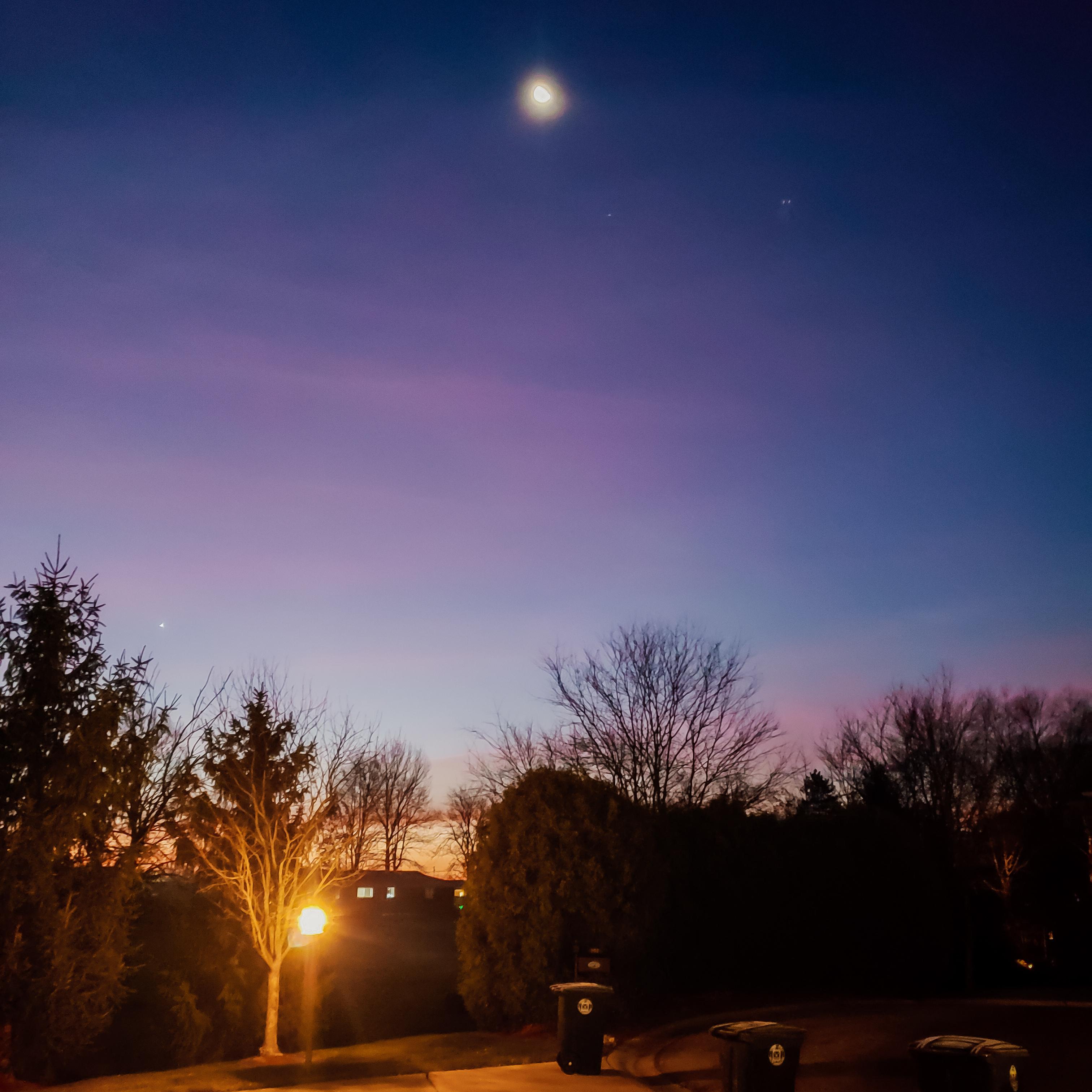 Sunrise with Moonshine