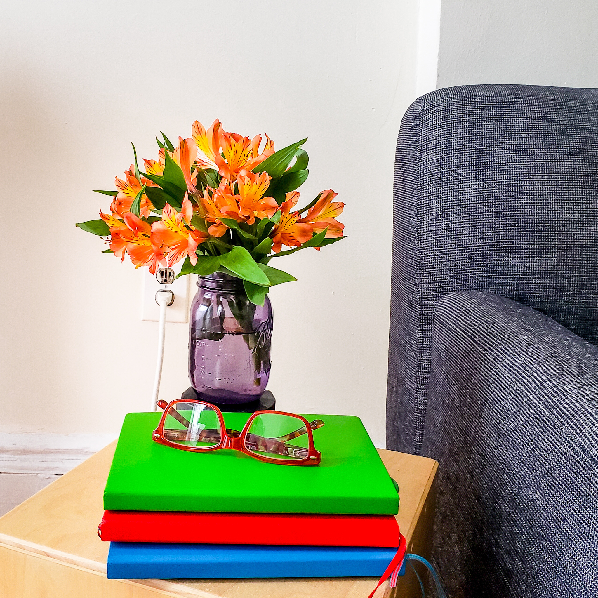 flowers and journals