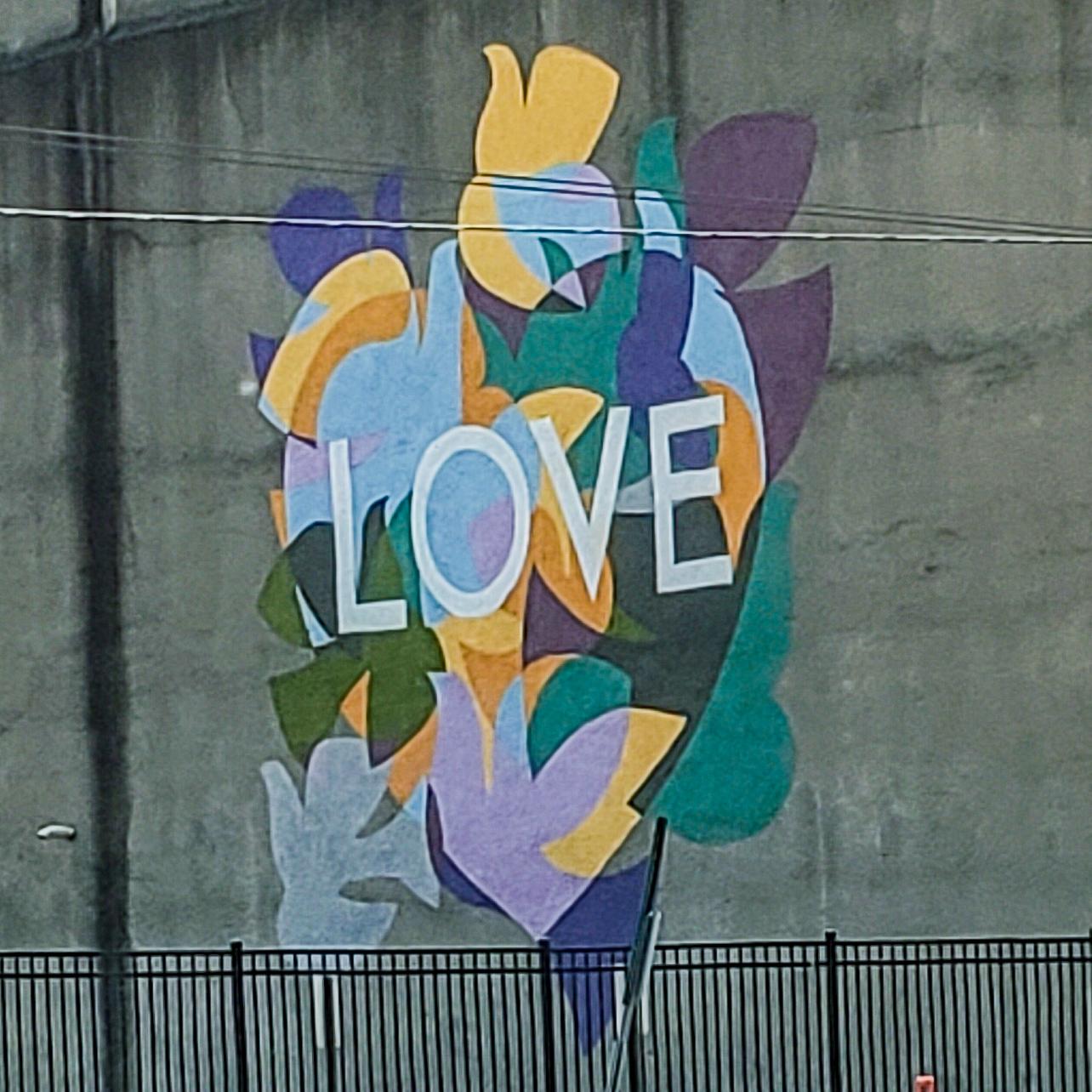 LOVE Mural in Dayton