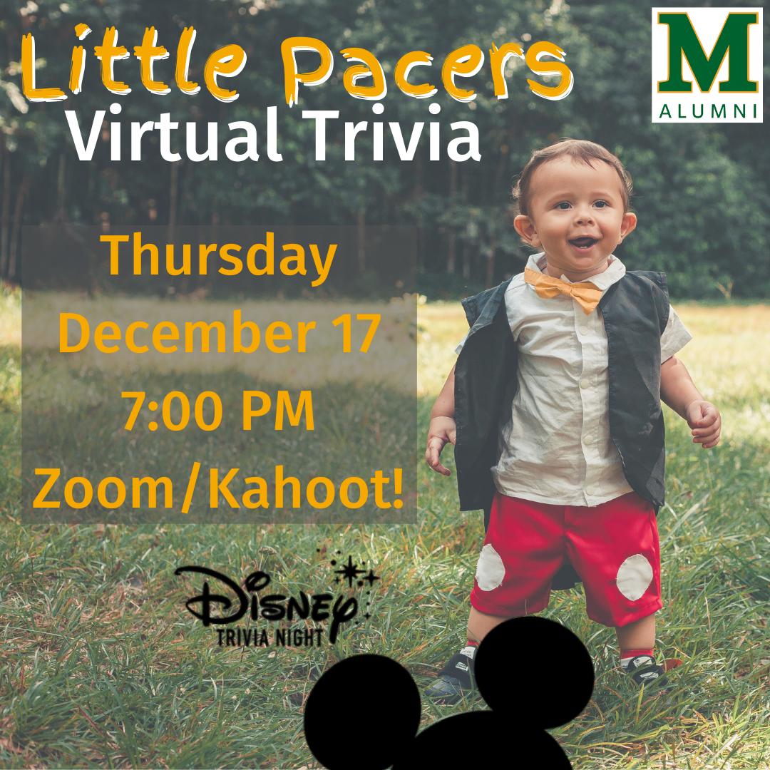 Marywood Alumni Little Pacers Disney Trivia