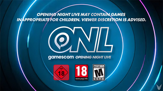 Title card for Gamescom: Opening Night Live 2021