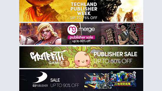 Publisher sale banners