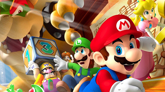 Promotional art of Super Mario characters