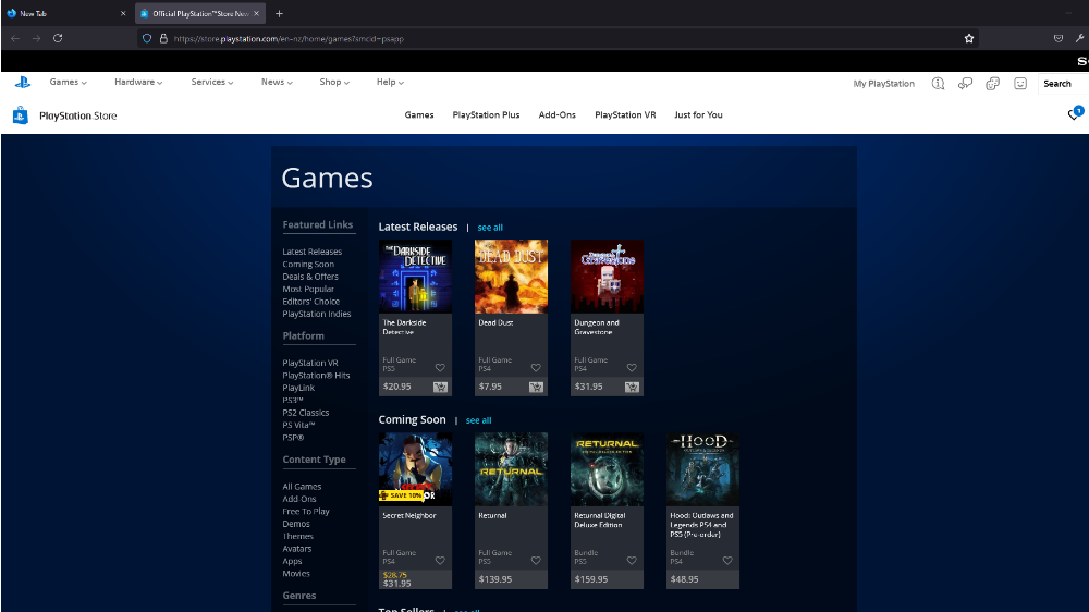 A PlayStation Store lost in time and API code