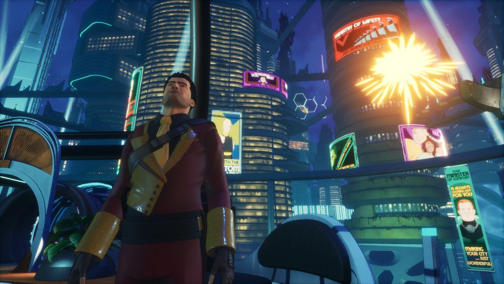 Beyond a Steel Sky uses 3D cel-shaded graphics