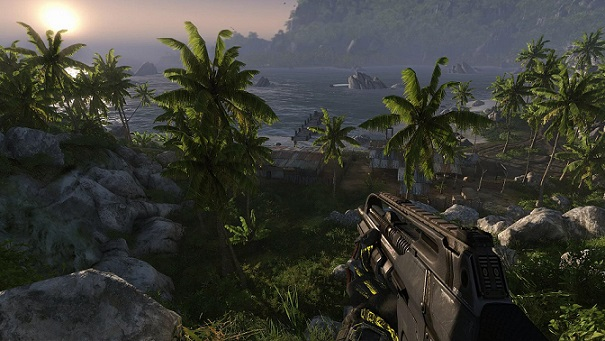 This is Crysis Remastered running on the 'high' preset! There's two above this!