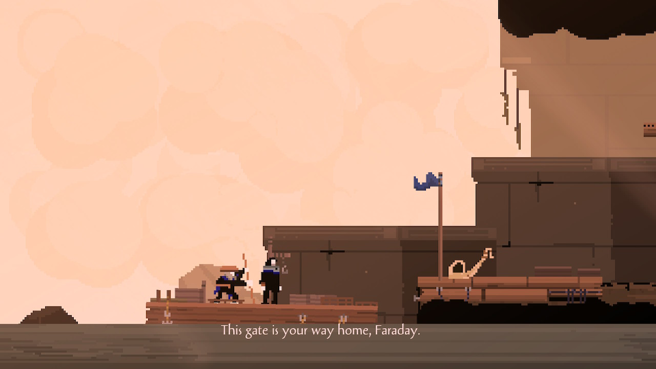 Faraday's adventure is only possible due to the mysterious ferryman