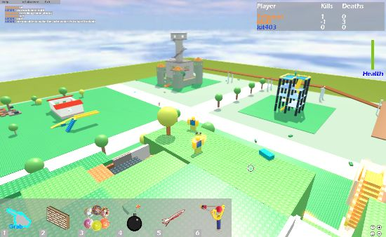 An example of the crossroads level on Roblox's older look