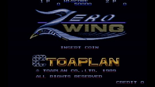 Zero Wing is a side-scrolling shooter with co-op