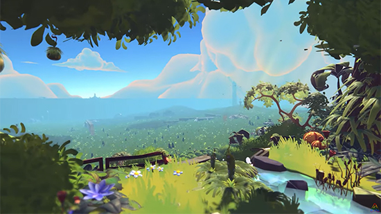 In-game early alpha view of XEL's environment