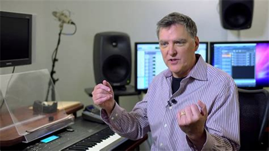Marty O'Donnell in an audio studio