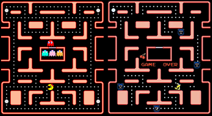 Spot the difference, Pac-Man edition