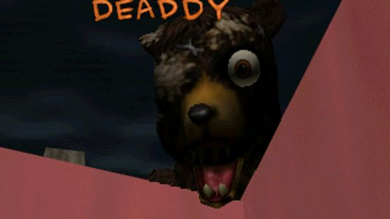 Junior's alternative skin in CarnEvil, changing a baby to a bear