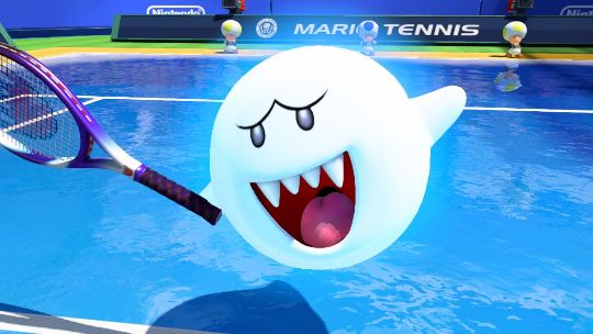 Boo's tennis skills proved quite the fright