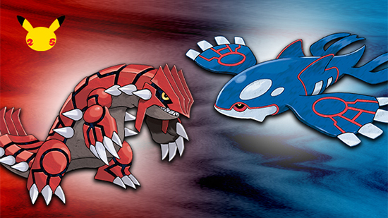 Ruby and Sapphire Legendary Pokemon Groudon and Kyogre