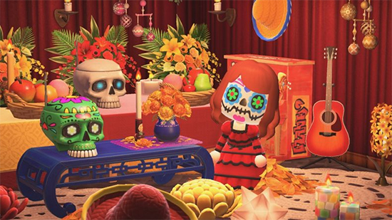 Day of the Dead themed items in Animal Crossing: New Horizons