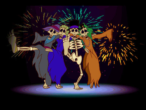 For a bunch of skeletons, they do have the choreography downpat