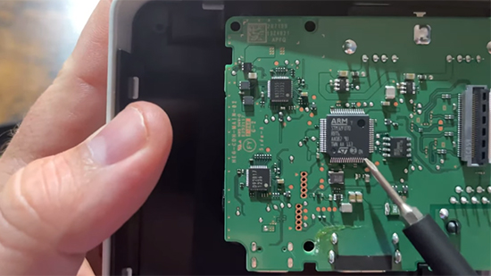 Switch OLED Dock mainboard opened up