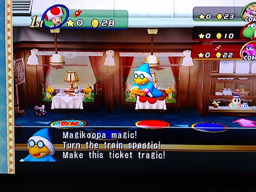 Kamek dropping the s-bomb in Mario Party 8