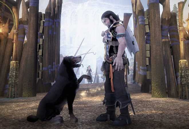 No mention of Fable II's adorable doggy? For shame, PETA, for shame.