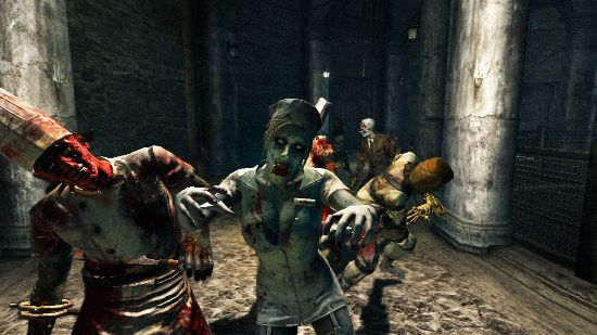 Zombies coming towards you in Rise of Nightmares