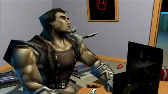 Summoner character Jekhar DMing a game of Dungeons and Dragons