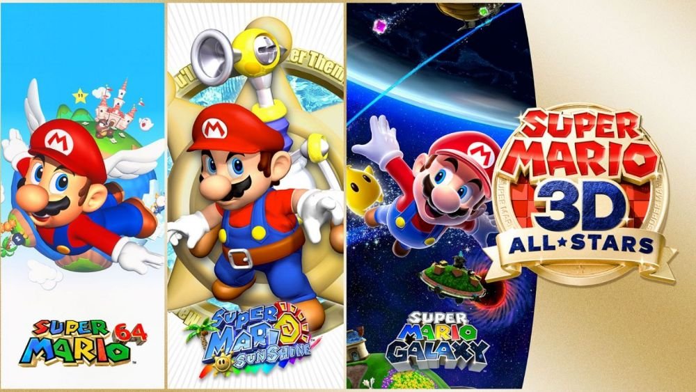 Mario 3D All-Stars includes three games in one