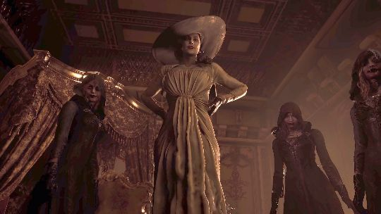 Lady Dimitrescu and her three mysterious daughters
