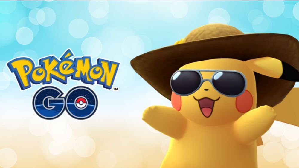 Pikachu is ready for some fun in the sun