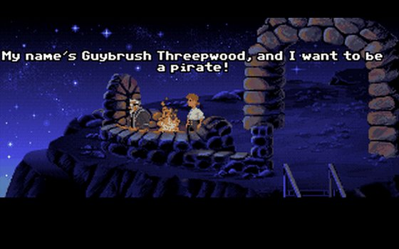 He's Guybrush Threepwood, and he's a mighty pirate!