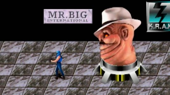 Facing Mr. Big in NARC's final level, morphed into a giant head