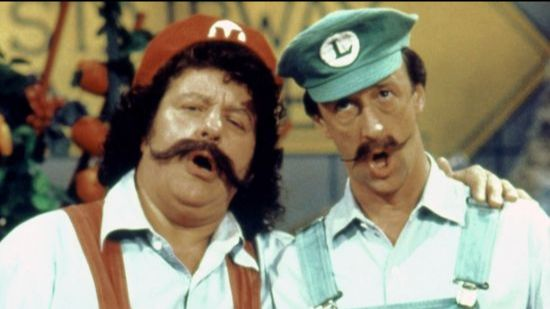 Mario and Luigi played by Lou Albano and Danny Wells