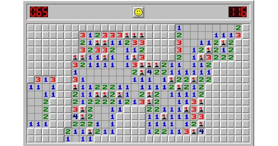 How Minesweeper looked on Windows 3.1